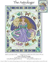 The Astrologer JE025 cross stitch chart Joan Elliott Designs - $14.00