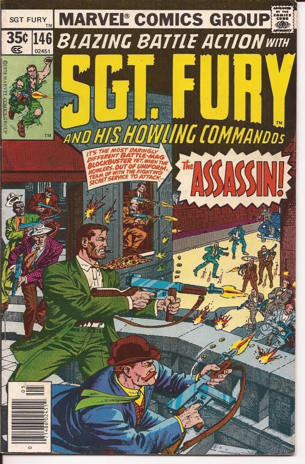 Marvel Sgt. Fury And His Howling Commandos Lot Issues #145, 146, 149, & 162