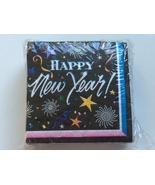 50-ct Pkg. HAPPY NEW YEAR Holiday Cocktail Party Beverage Napkins by Pap... - $5.99
