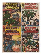 Marvel Sgt. Fury And His Howling Commandos Lot Issues #31,32, 35, & 53 - $9.95