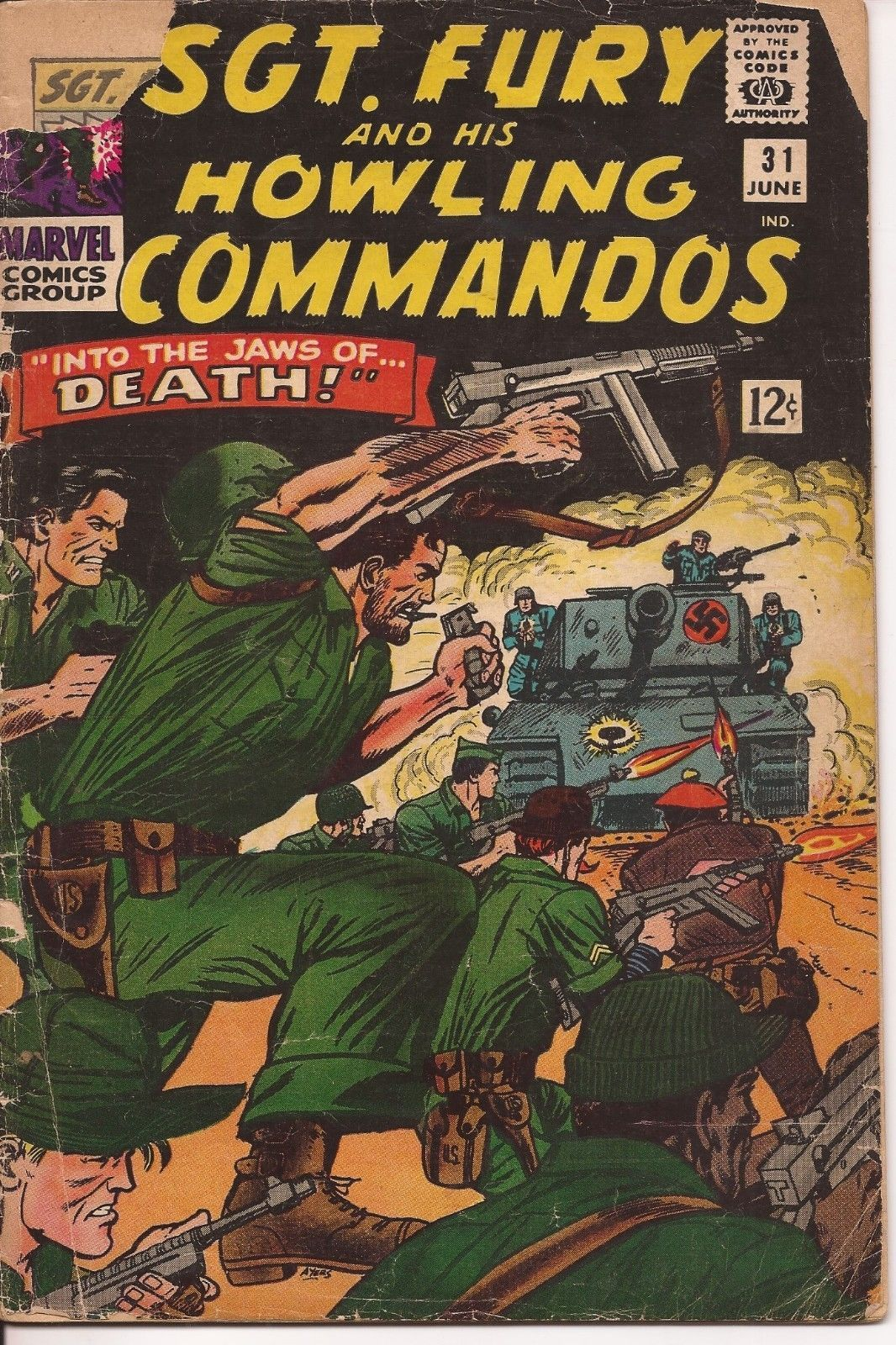 Marvel Sgt. Fury And His Howling Commandos Lot Issues #31,32, 35, & 53