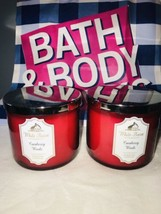 New 2 Bath & Body Works Cranberry Woods  14.5 OZ 3 Wick Large Candle - $56.43