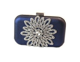 Fashion Mini Clutch for Women Rhinestone Crystal Royal Blue Prom Clutch