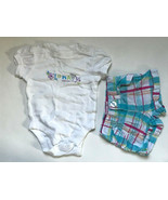 Baby Girl's Size 3M 0-3 Months Two Piece Old Navy Floral Top & Plaid Sho... - $13.00
