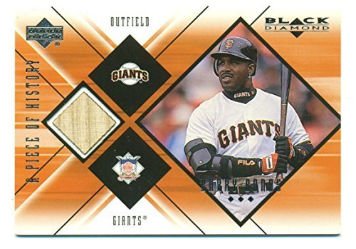 1999 Black Diamond A Piece of History Barry Bonds Game Used Bat- Baseball Card