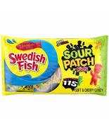 SOUR PATCH KIDS Candy & SWEDISH FISH Candy Variety Pack, Valentine's Candy, 115  - $23.67