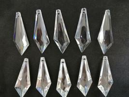 100Pcs Sword Shape Acrylic Crystal Bead Pendant Wedding Chandelier Decor 20*50mm - $12.46