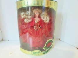 MATTEL #10824 BARBIE DOLL HAPPY HOLIDAYS 1993 BOX TAPED DOLL NOT PLAYED ... - $8.86