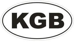 KGB Oval Bumper Sticker or Helmet Sticker D1613 Russian CIA Russia Spy - $1.39+