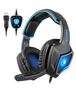 SADES Spirit Wolf USB Gaming Headphone Pc Gaming 7.1 Sound With Backlight Mic - $38.77
