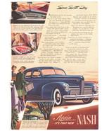 Vtg 1939 Nash automobile advertisement Full color print magazine ad - $14.00