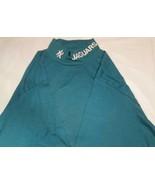 Jacksonville Jaguar T-Shirt Long Sleeve Wide collar Medium NFL White Emb... - $14.24