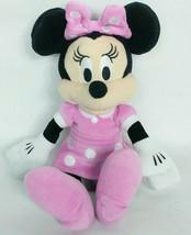 "Disney Minnie Mouse Just Play Pink White Polka Dot Plush Stuffed Animal 10"" - $19.80"