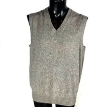 Banana Republic Gray Sweater Vest Size Large Extra Fine Merino Wool - $32.98