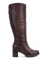 NEW UGG BROWN LEATHER SHEARLING TALL BOOTS SIZE 9 M $350 - $259.99