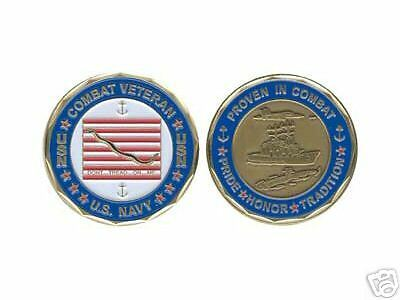 NAVY  MILITARY COMBAT VETERAN SNAKE  CHALLENGE COIN
