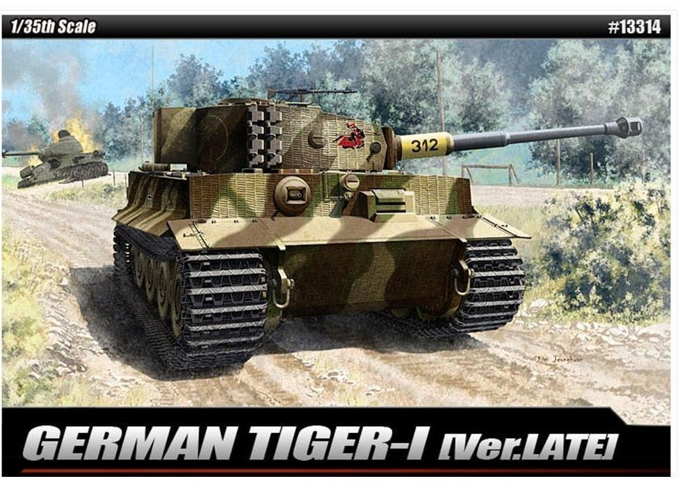 [Academy] Plastic Model Kit 1/35 GERMAN Tiger-1 ver.late (#13314)