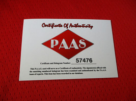JOEL EMBIID / PHILADELPHIA 76ERS / AUTOGRAPHED 76ERS RED PRO STYLE JERSEY / COA image 9