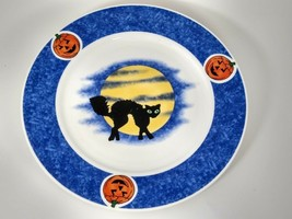 4-Halloween Party American Atelier Dinner Plates DOMESTICATIONS AMERICA - $51.96