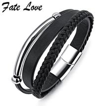 Handmade Multi-layer Leather Bracelet Men Jewelry Pulseira Masculina Vin... - $28.72