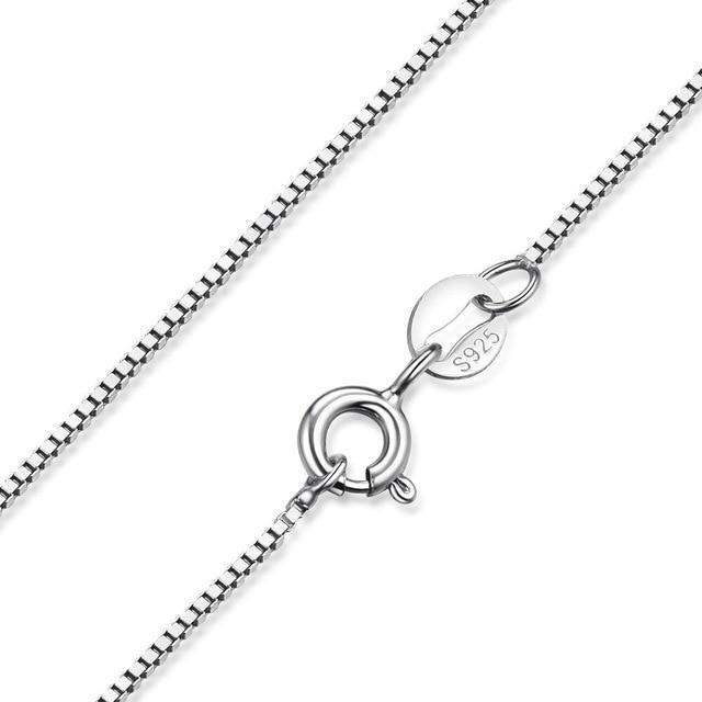 JewelryPalace 100% Genuine 925 Sterling Silver Necklace Classic Basic Silver Cha