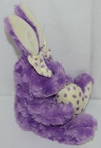 Fiesta Brand E07065 Purple White Polka Dot Sitting Easter Bunny With Bow Egg image 2