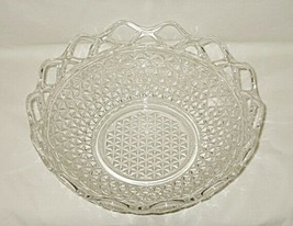 Imperial Laced Edge Pattern Clear 10 1/2-inch Footed Bowl - $16.78