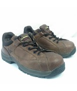 Dr. Martens Protective Steel Toe Work Shoes  Brown Mens 7  Womens 8  Doc... - $29.99
