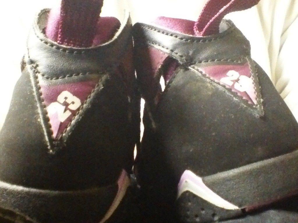 658e0fc3eb38 ... 2 Nike Air Jordan Retro 7   13 Mulberry size 9c 9 C 7C Girl Shoes