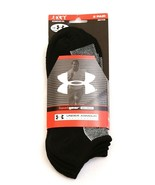 Under Armour Black UA Metal No Show Athletic Socks 2 in Package Men's 9-... - $24.74
