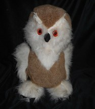 "16"" VINTAGE ANIMAL FAIR BANK OF YORKTOWN BROWN WHITE OWL STUFFED 1970s P... - $42.08"