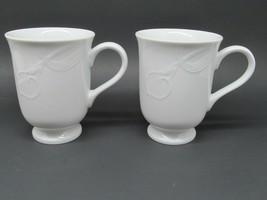 "Mikasa Classic Flair White mugs  cups japan 4 1/8"" Tall - $21.34"