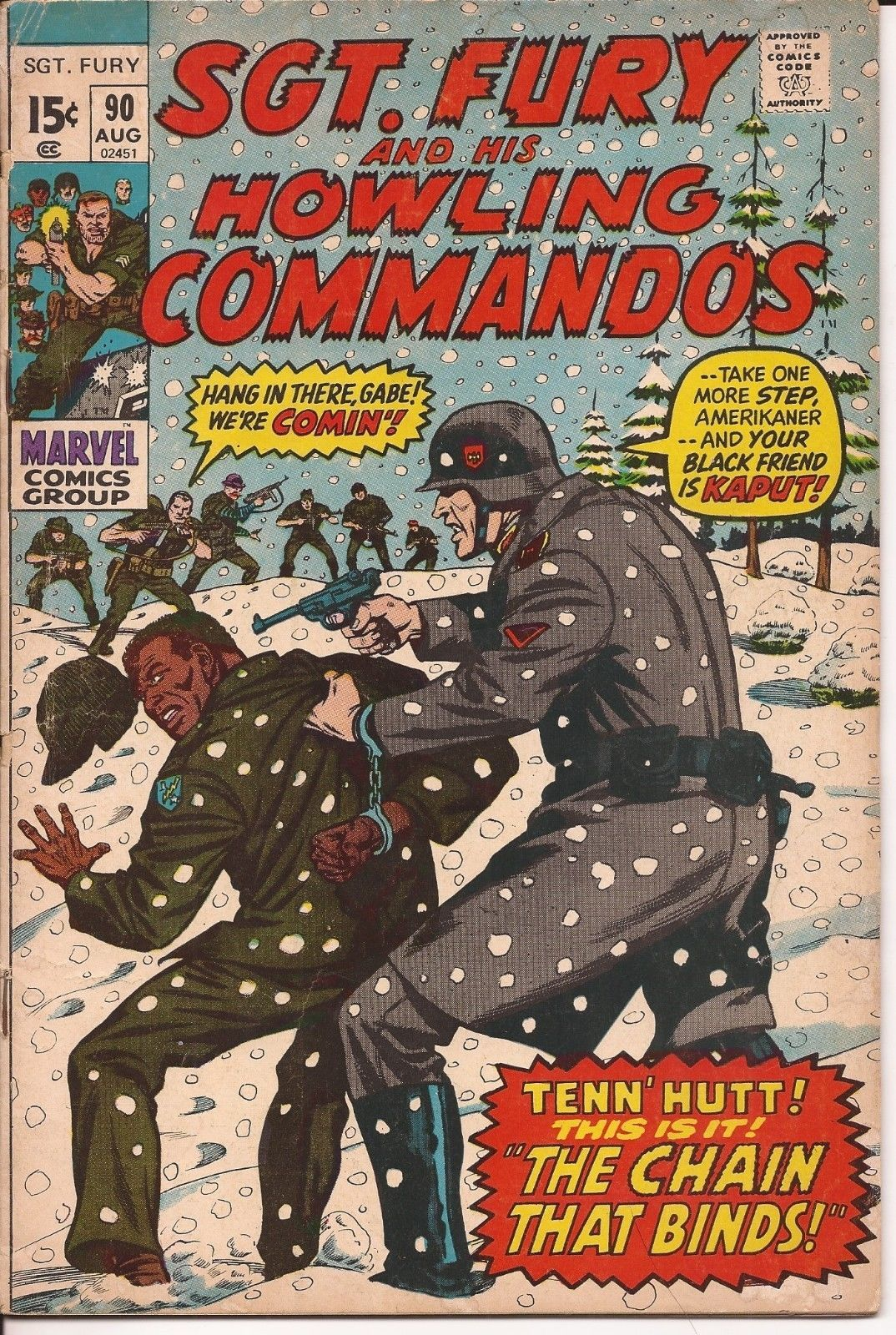Marvel Sgt. Fury And His Howling Commandos Lot Issues #83,84, 86, & 90