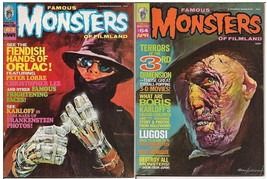 Famous Monsters Of Filmland Lot Issues #63 & 64 Hands Of Orlac Boris Kar... - $7.95