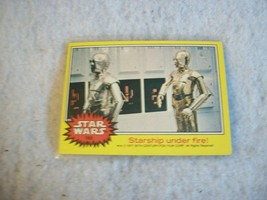 Star Wars Series 3 (Yellow) Topps 1977 Trading Card # 188 Starship Under Fire - $1.49