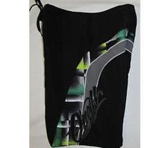 MEN'S GUYS O'NEILL BLACK BOARDSHORTS SWIM SUIT GREEN PLAID ON SIDES NEW $60 - $26.99