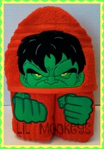 Hulky Angry Childrens Beach Towel/Kids Bath Towels/Toddler Hooded Towels - $30.00
