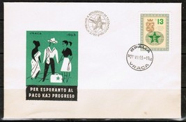 BULGARIA Scott # 1277 on FIRST DAY COVER (FDC) (27/VII/63) (OS-188) - $1.93