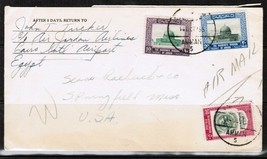 JORDAN Scott # 311,313 & C5 on AIRMAIL COVER to SPRINGFIELD,MASS. USA   ... - $9.85