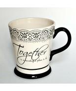 Together Ceramic Coffee Mug Beverage Cup by Cracker Barrel Kitchen Home ... - $10.44