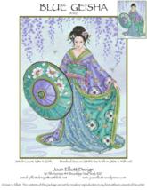 Blue Geisha JE027 cross stitch chart Joan Elliott Designs - $14.00