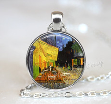 Van Gogh Pendant Necklace Jewelry Keychain, Cafe Terrace At Night, Van G... - $11.95