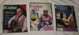 3 Guitar Player Magazines 1983 1984 Hall Muddy Waters ACDC - $24.95