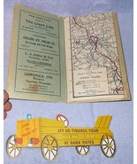 Warsaw Indiana Advertising Folder with Cram's Highway Map ca.1930's - $9.95