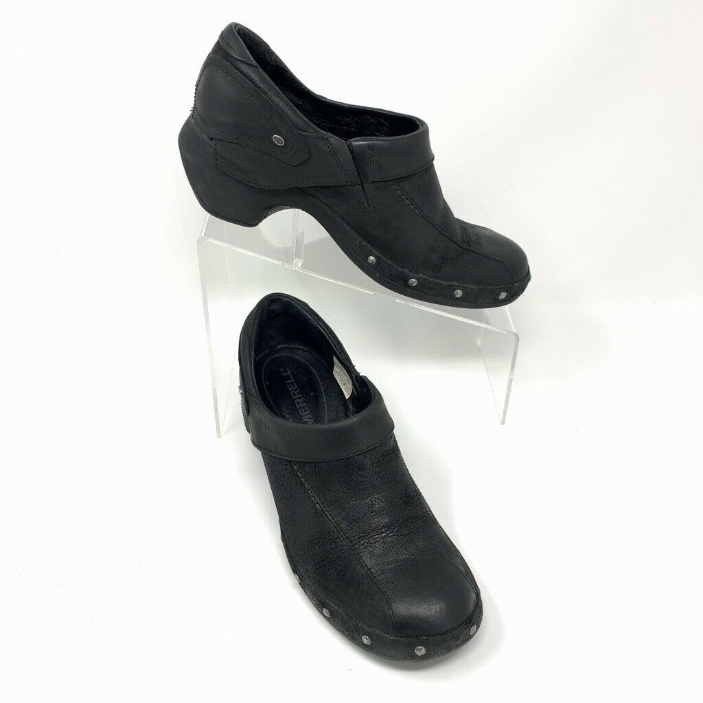 Merrell Womens Leather Comfort Shoes, Size 8, Black, Sliver Stud Accent image 2