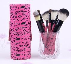 MAC Pink Animal Print Cosmetic Brush Set 11 Piece Professional Makeup Brushes  - $88.00