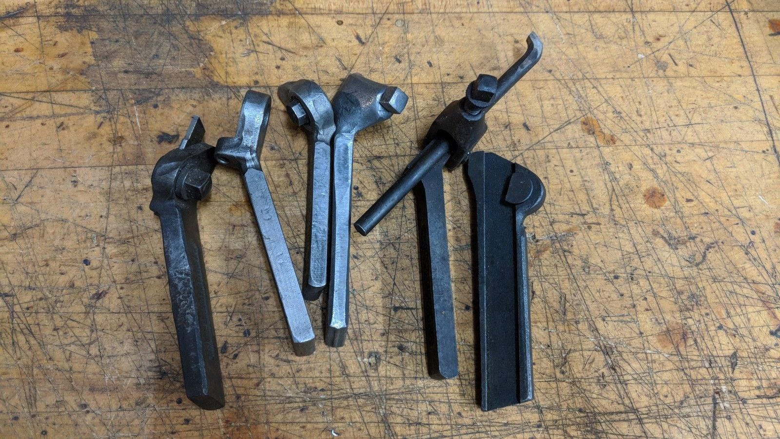 6 ASSORTED METAL LATHE LANTERN TOOL POST BIT HOLDERS ARMSTRONG JH WILLIAMS SET11