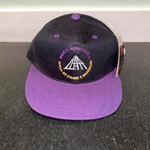 Rock and Roll Hall of Fame Baseball Hat Mens OSFA Black Purple Cap Snapb... - £9.04 GBP
