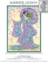 Summer Geisha JE029 cross stitch chart Joan Elliott Designs - $14.00