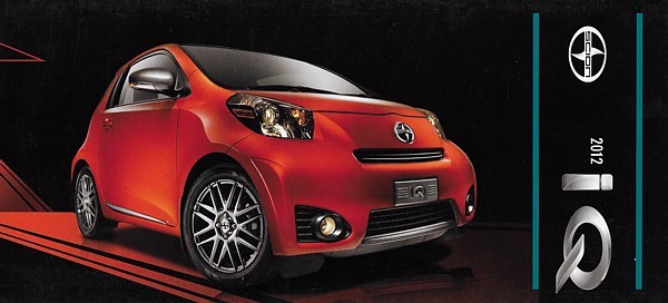 Primary image for 2012 Scion iQ sales brochure catalog US 12 Toyota